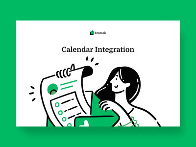Calender integration mobile ui girl
