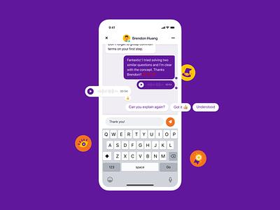Chat Screen girl app website office design mobile icon agency ui illustration