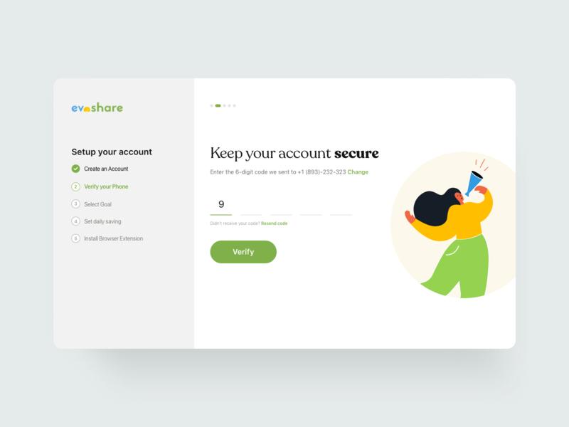 Account creation flow steps icon illustration branding motion graphics logo graphic design animation