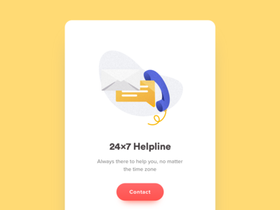 Helpline Icon email message phone call phone illustration ui  ux design ui state empty