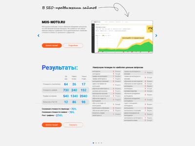 SEO Portfolio | Zayavkin font handwritten arrow table gray portfolio cases case seo agency seo gradient white web-design ux ui site web-development web business design