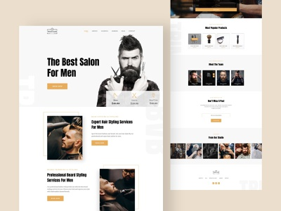 Trim Bar | Barber Shop Website web design tattoo artist tattoo art clean landing page website hair product product design barber logo spa saloon men fashion hair salon hairstyle haircut salon barbershop barber