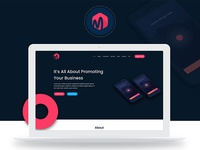 Matrix App Landing Page FREE Download