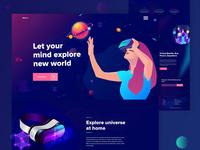 Virtual Reality Landing Page