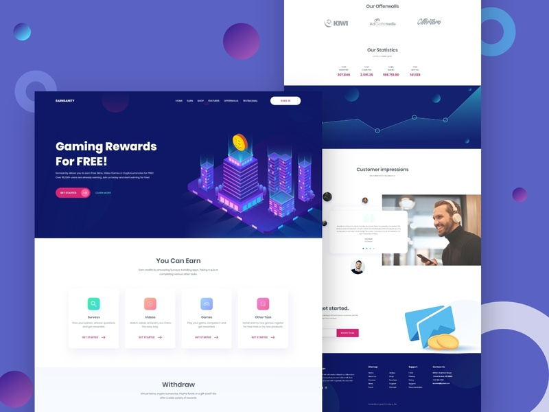Cryptocurrency Landing Page design ios gradient crypto exchange crypto trading block chain bitcoin color corporate app interaction typography dailyui clean website ui vector uiux illustration landing page crypto currency