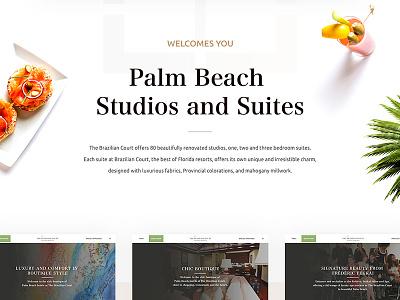 The Brazilian Court hotel Palm Beach cofe hotel main interface icon design web ux ui