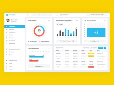 Movedocs diagram menu charts dashbord interface icon design color web ux ui