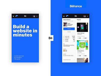 Profile Behance app app design mobile ux ui classic profile app behance