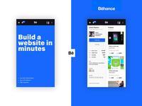Profile Behance app