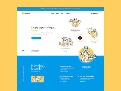 Logomachine WIP web design site logomachine main flat inspiration interface design color web ux ui