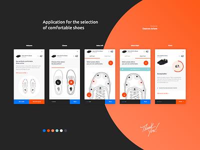 Comfortable Shoes shoes size app mobile web game ui ux design foot