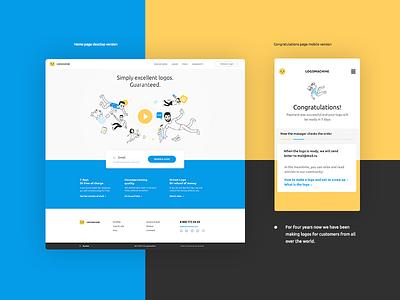 logomachine WIP web design mobile site logomachine main flat inspiration interface design color web ux ui