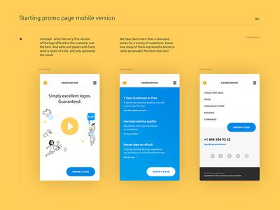 logomachine WIP web design mobile site ui ux web color design interface inspiration flat main logomachine