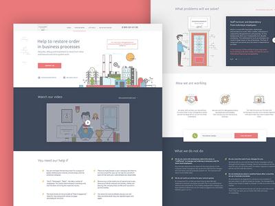 Business analytics landing design ux ui web mobile app analytics business