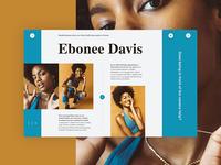 Ebonee Davis fashion main flat inspiration material interface icon design color web ux ui