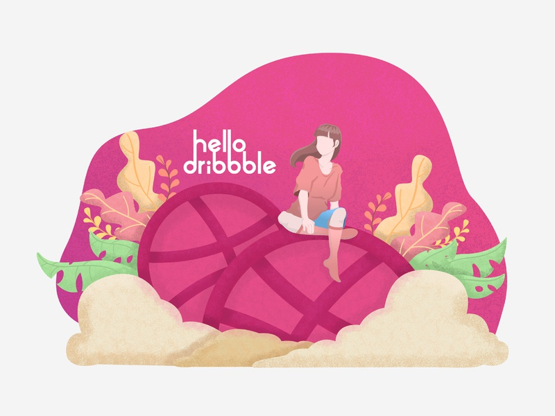 Dribbble First Shoot illustrator identity web lettering ux design flat typography ui vector illustration