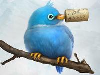 Corked Twitter Bird