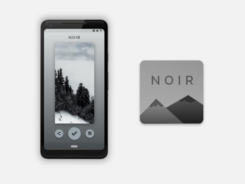 Noir - An Unsplash Wallpaper App black and white grayscale concept app concept pixel google pixel