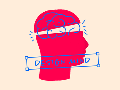 Design Mind concept vector illustration mind design