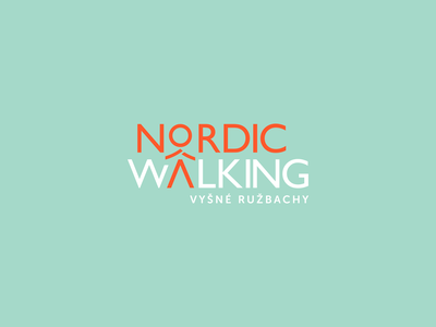 Nordic Walking Logo Design nordicwalking nordic walking mountain hiking typography branding logo design