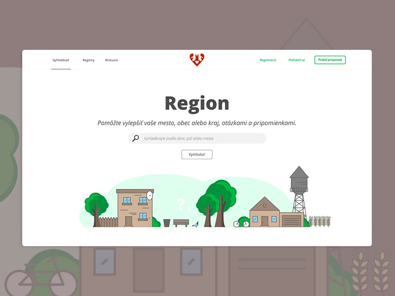 Web Concept Ui Region by Patrick Dinh-Thien on Dribbble
