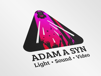 Logos concept for Adam a syn event live concert branding agency branding logo video sound light music