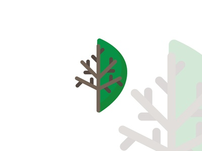 Flat tree illustration with leaf illustration flat design branding logo leaf logo nature tree leaf