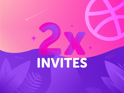 2x Dribbble invitations space dribbble invitations dribbble invite illustration