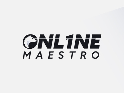 Twitch Streamer Logo for Onl1neMaestro typography overlay twitch overlay wolf streamer twitch illustration vector branding design