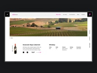 E-commerce. Online wine store. Product cart