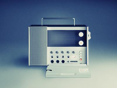 Braun T1000 radio illustration dieter rams braun radio tribute retro vintage