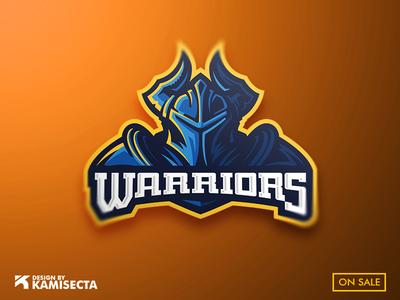 Warriors mascot logo stream team vectorart guerrero gaming design guerrilla warrior esports mascot logo warriors