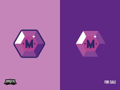 M + MEDAL - FOR SALE minimal logo a day design art super clean artwork illustration vector medallion mascot medals logo medal