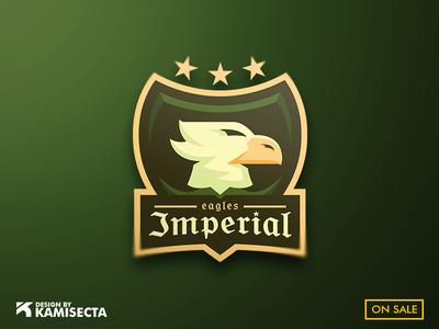 Imperial eagles mascot logo vector ui branding flying gaming design esports logo eagle eagle logo mascot imperial impero