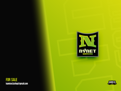 Nynet gaming - FOR SALE vector branding green logo night esports logo mascot visual art green gaming neon nlogo new nynet