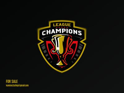 Champions league logo - SOLD logo design campeon ui winner trophy mascot lettering esports gaming logo champions league vector leagues championship league champions