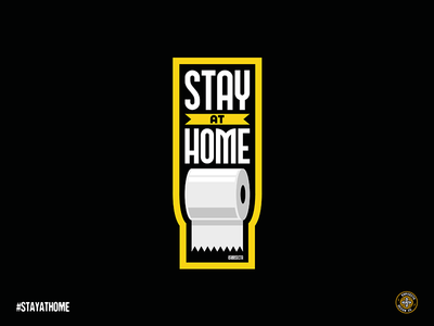 STAY AT HOME LOGO coronavirus toilet toiletpaper paper art vector stay safe sweethome home stay stay home logo stayhome