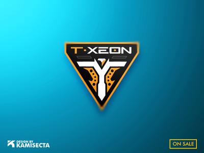 T-XEON  LOGO - FOR SALE ui robotics identity brand design branding orange team vector minimal future gaming xerox logo xero xeon