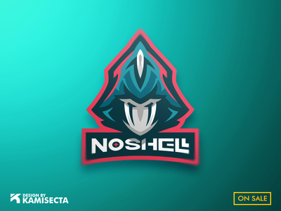 NOSHELL mascot logo - FOR SALE team design masked hooded face vector premade esports gaming omen valorant logo mascot