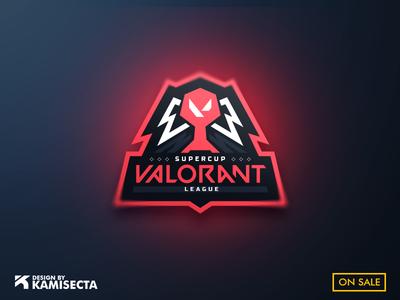 LEAGUE VALORANT - FOR SALE supercopa liga esports logo squad mascot vector team champion supercup cup league gaming esports valor riotgames riot valorant logo