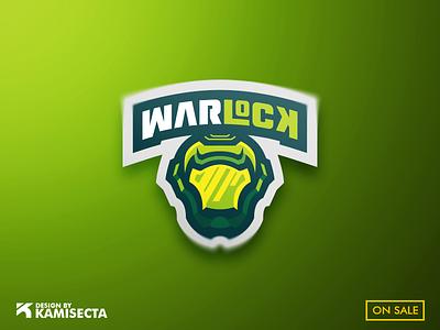 WARLOCK LOGO - FOR SALE head logotype vector wars team green logo design gaming mascot lock logo esports warrior war