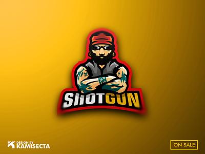 SHOTGUN LOGO - FOR SALE vector tattoo design beard motorcycle motorbike motor branding mascot tattoo moto biker gang biker bikers logo shotgun