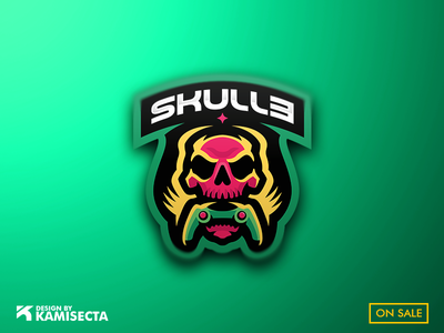SKULLE LOGO - SOLD animal team calavera vector design controller esports gaming mascot logo skull skulls