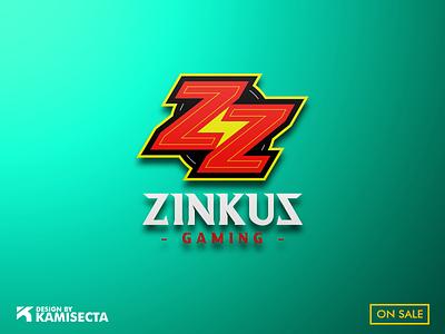 ZINKUS logo - FOR SALE team branding illustration zombie zz vector esports gaming thinking think zodiac zinkus logo
