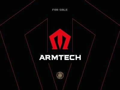 ARMTECH logo - FOR SALE modern logo team tshirt sponsor branding esports vector gaming technology artwork tech army arm logo