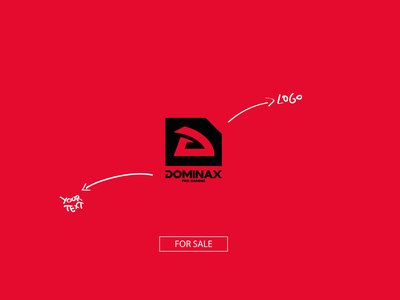 DOMINAX pro gaming - FOR SALE red team vector esports merch equipo marca pro gaming branding logo graphic design