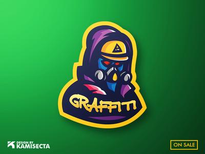 Graffiti mascot logo