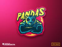 Pandas mascot logo