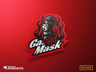 Gasmask mascot logo