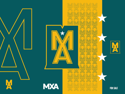 MXA logo - FOR SALE team motion stars illustration ui branding logo a day forsale vector letters esports logo minimal mxa